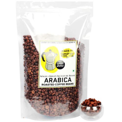 Urban Platter Whole Roasted Arabica Coffee Beans, 1kg
