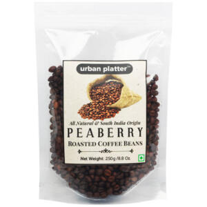 Urban Platter Whole Roasted Coffee Beans Indian Peaberry, 250g