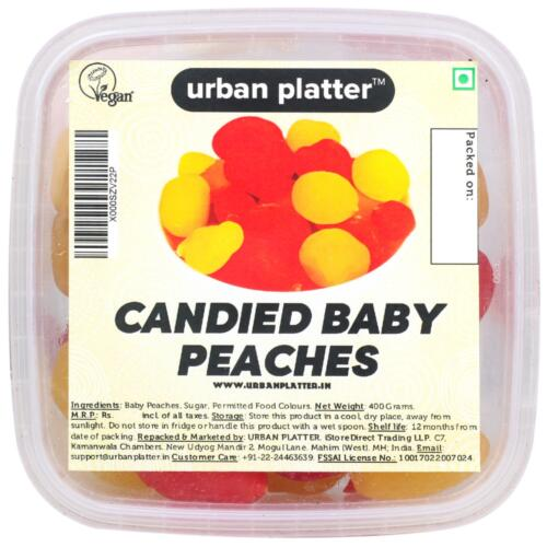 Urban Platter Candied Baby Peaches, 400g Tray
