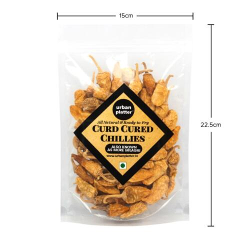 Urban Platter Dried Curd Chilly (More Milagai), 200g