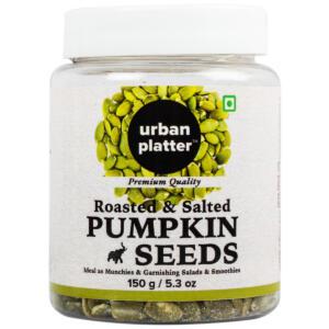 Urban Platter Roasted Salted Pumpkin Seeds, 150g [Heart-healthy, Gluten-free, Healthy Snack]