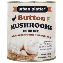 Urban Platter Whole Button Mushrooms in Brine, 800g (Drained Weight 400g)