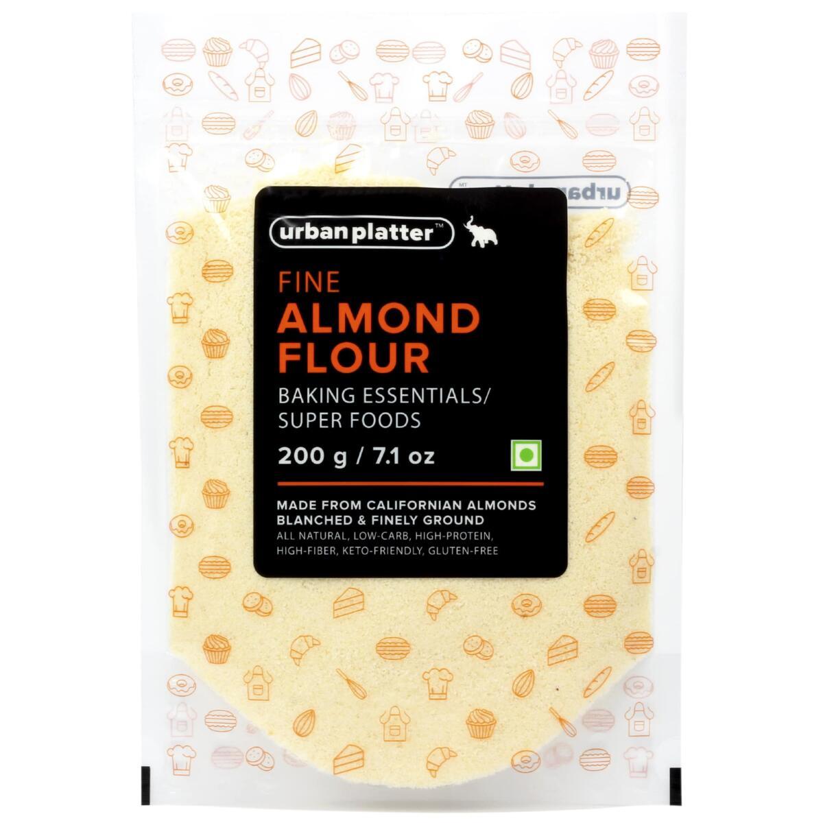 Urban Platter Fine California Almond Flour, 200g [Keto-friendly, Naturally Protein-rich, Blanched Almond Fine Powder]