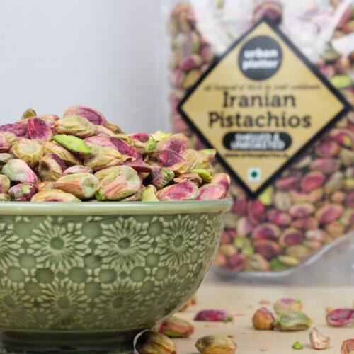 Urban Platter Whole Raw Shelled Pistachio (Pista), 1Kg