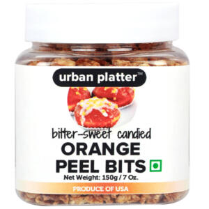 Urban Platter Dried California Orange Peel Bits, 150g [Bitter-Sweet Candied]