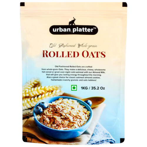 Urban Platter Rolled Oats, 10Kg (10 packs of 1Kg each)