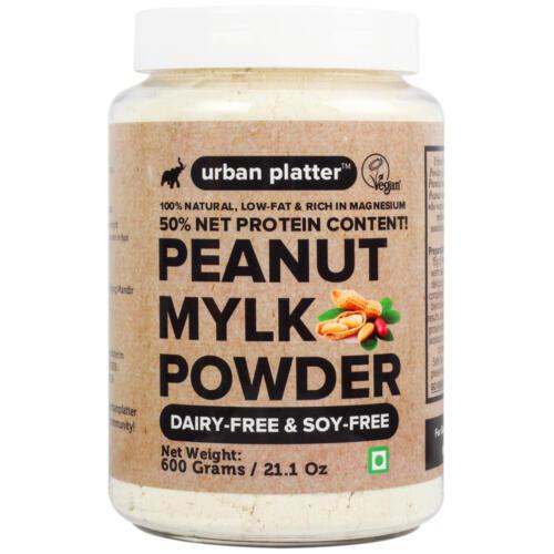 Urban Platter Peanut Milk Powder, 600g [Natural , Non-GMO, Gluten free, Plant protein, Zero trans fat, Casein-free]