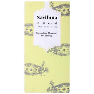 Naviluna The India Story – Caramelised Mosambi & Caraway Artisan Chocolate, 60g