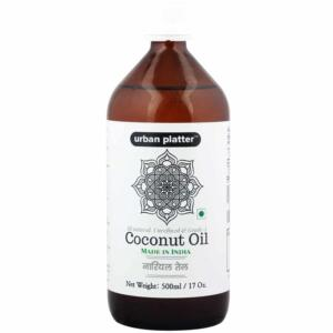 Urban Platter Pure & Unrefined Coconut Oil, 500ml