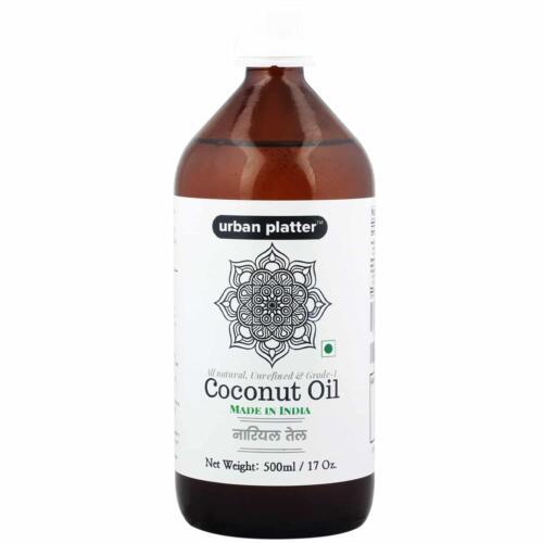 Urban Platter Pure & Unrefined Coconut Oil, 500ml