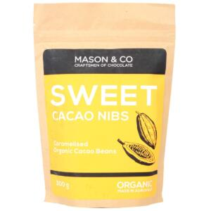 Mason & Co Sweet Cacao Nibs, 300g [Gluten Free, Soy Free, Vegan]