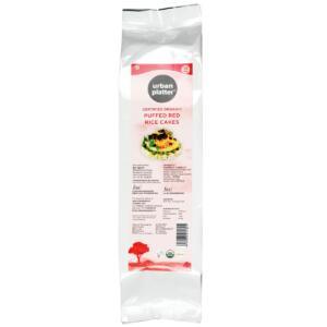 Urban Platter Organic Puffed Red Rice Cakes, 100g