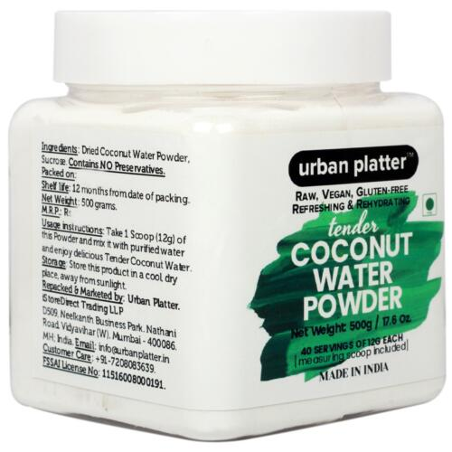 Urban Platter Tender Coconut Water Powder, 500g [Raw, Vegan, Refreshing & Re-hydrating]