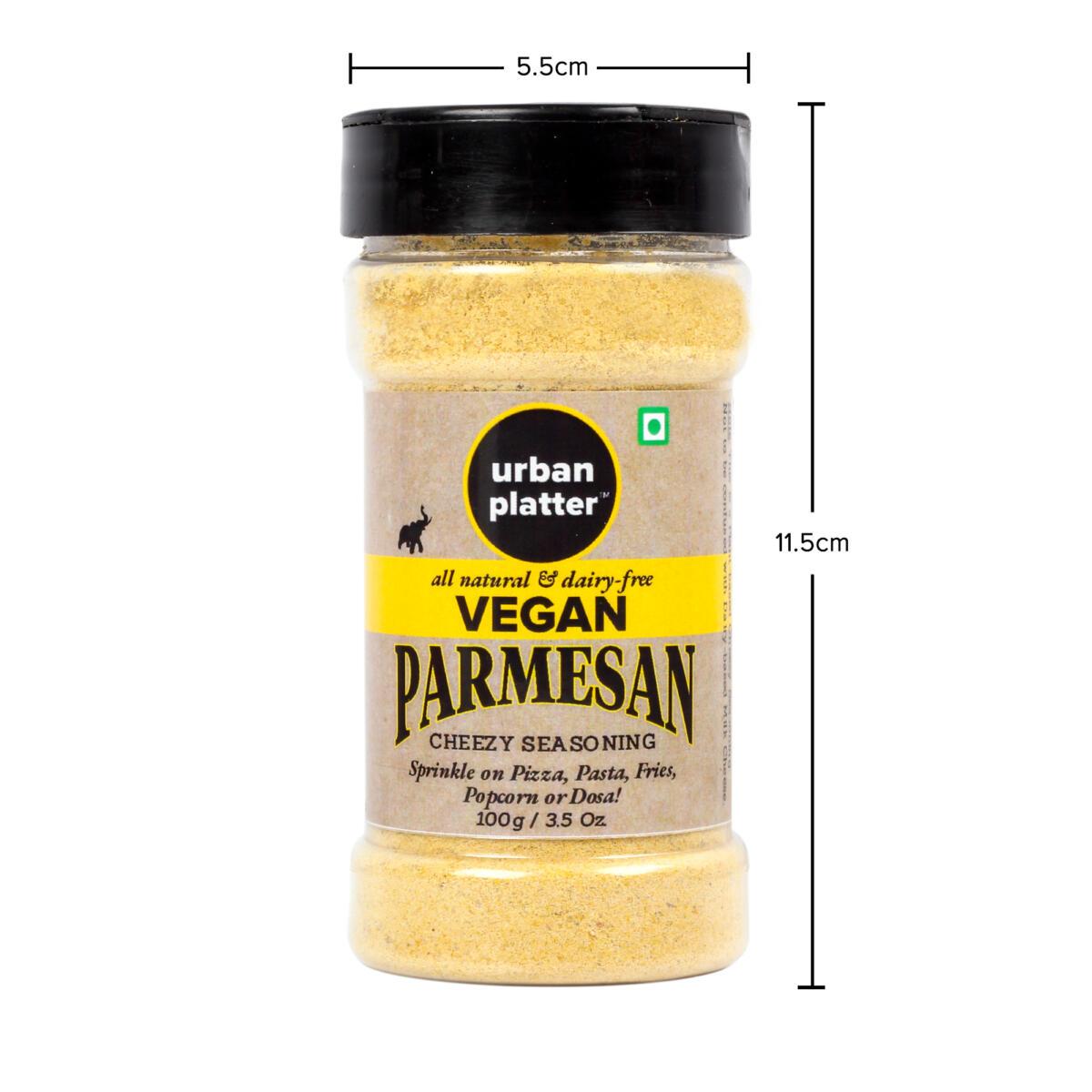 Urban Platter Vegan Parmesan Cheese Shaker Jar, 100g [Cheesy