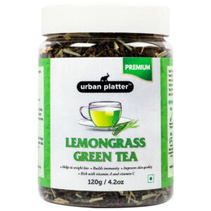 Urban Platter Lemongrass Green Tea, 120g / 4.2oz [Calming, Refreshing & Aromatic]