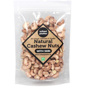 Urban Platter Whole Natural Cashew Nuts (With Skin), 400g [Grade A, Delicious, Healthy Kaju]