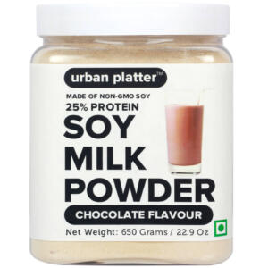 Urban Platter Soy Milk Powder-Chocolate Flavour, 650g [Vegan, Non-GMO & 25% Protein]