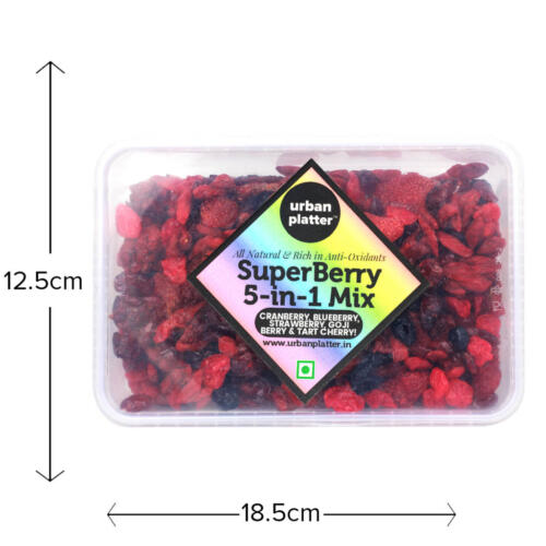 Urban Platter 5-in-1 SuperBerry Mix, 400g (Rich in Anti-oxidants)