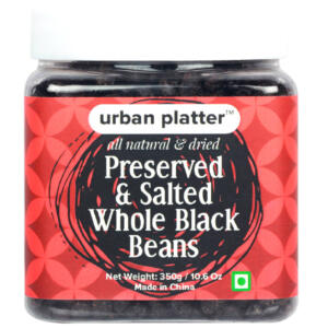 Urban Platter Preserved & Salted Whole Black Beans, 350g [All Natural & Dried]