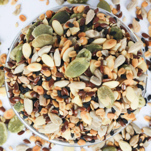 Urban Platter 7-in-1 Super-Seeds Mix, 400g [All Natural, Lightly Salted, Heart-Healthy Seed Mix]