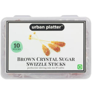 Urban Platter Brown Crystal Sugar Swizzle Sticks, 10 Sticks