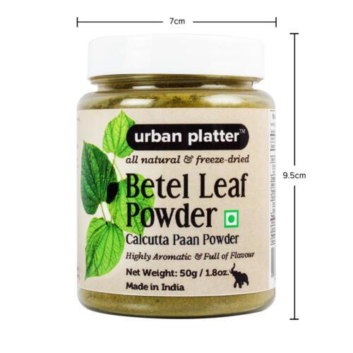 Urban Platter Betel Leaf (Calcutta Paan) Powder, 50g [All Natural, Freeze-Dried & Full of Flavour]