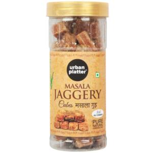 Urban Platter Masala Jaggery Cubes, 500g (Spiced Jaggery, Pure, Natural, Chemical Free)