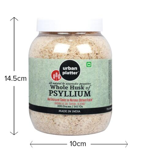 Urban Platter All Natural & Purgative Whole Husk of Psyllium, 350g [Excellent Source of Dietary Fiber, Also Known as Sat Isabgol]