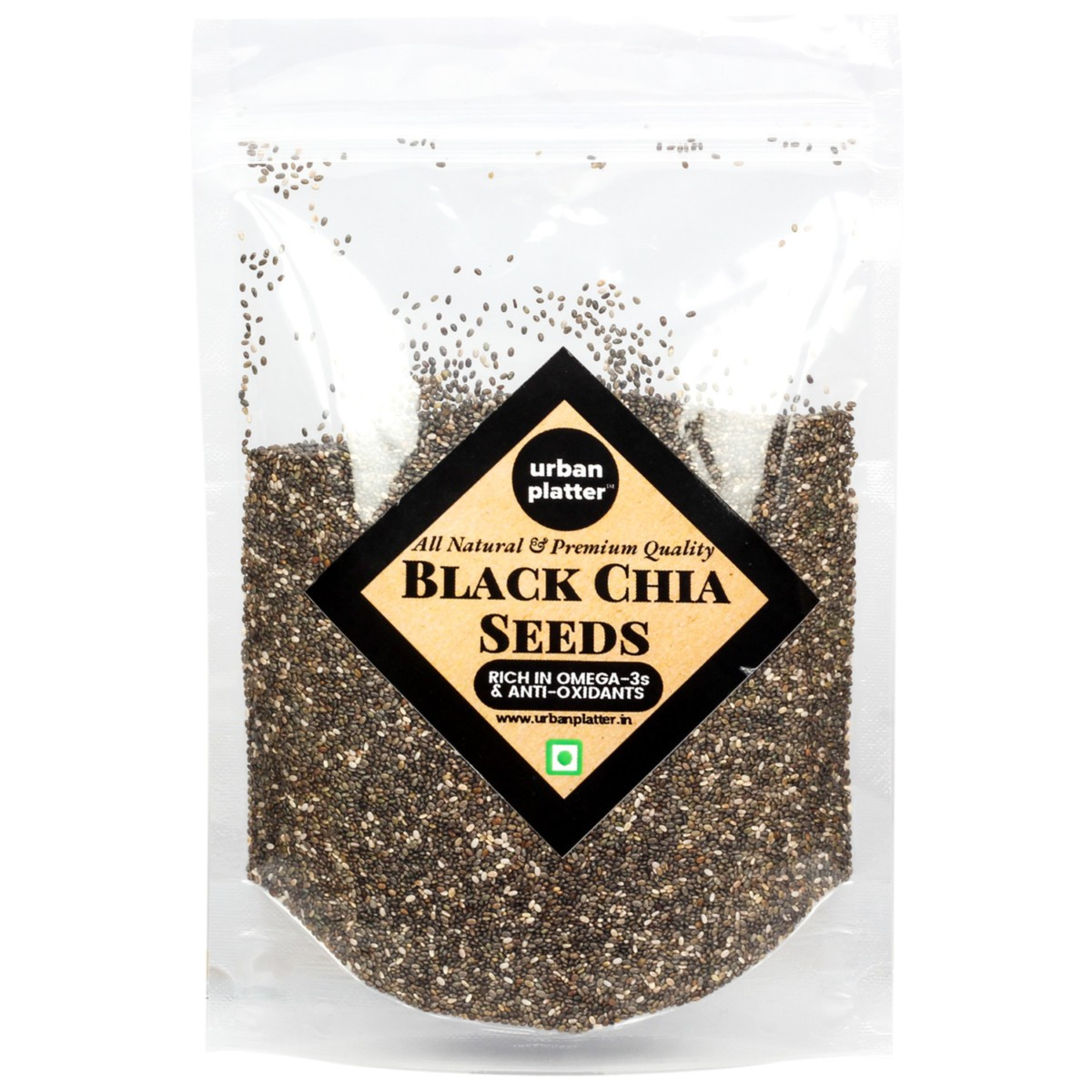 Urban Platter Black Chia Seeds, 400g