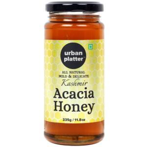 Urban Platter Kashmir Acacia Honey, 335g (Genuine Premium Quality Raw Acacia Honey from Kashmir Valley)