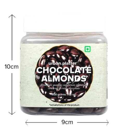 Urban Platter Dark Chocolate Coated California Almonds, 400g