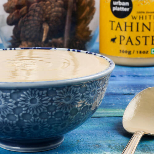 Urban Platter Tahini Paste, 500g [100% Pure Sesame + Pate de Sesame]