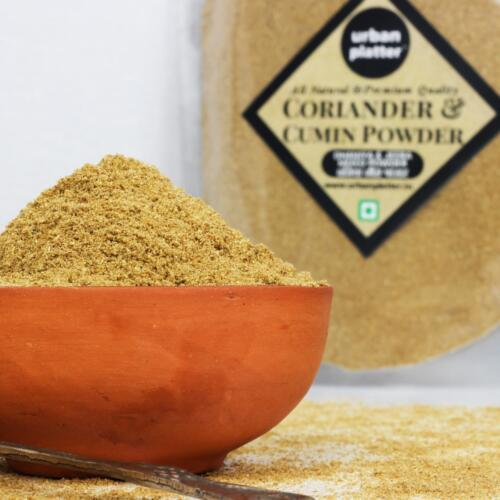 Urban Platter Coriander & Cumin Powder, 400g [Dhania & Jeera Mixed Powder]