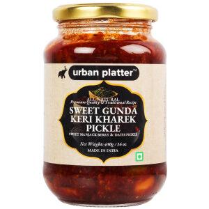 Urban Platter Gunda Keri Kharek Pickle, 450g / 16oz [Manjack Berry and Dates Pickle, Traditional Recipe]