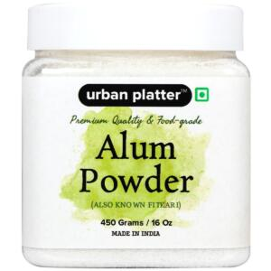 Urban Platter Alum Powder, 450g [Premium Quality & Food-Grade, Also Known Fitkari]
