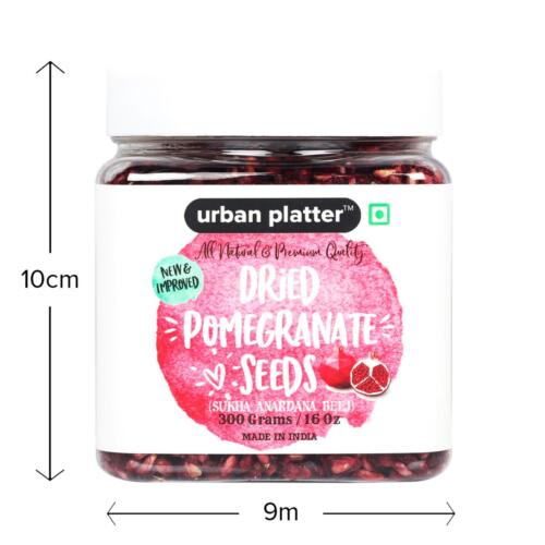 Urban Platter Dried Pomegranate Seeds, 300g [All Natural, Premium Quality Sukha Anardana Bee]