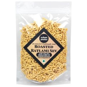 Urban Platter All Natural Roasted Low-Fat Ratlami Sev, 800g [Super Value Pack, Traditionally Made, With Hint Of Garam Masala]