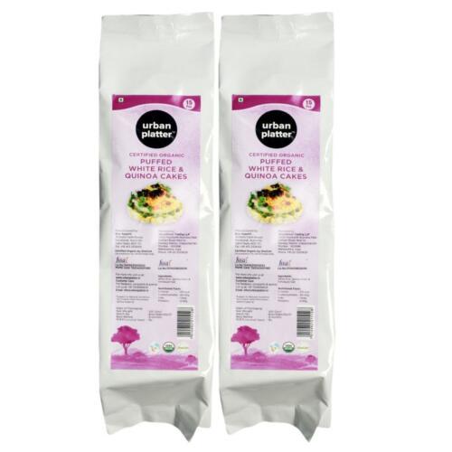Urban Platter Organic Puffed White Rice & Quinoa Cakes, 125g (Pack of 2)