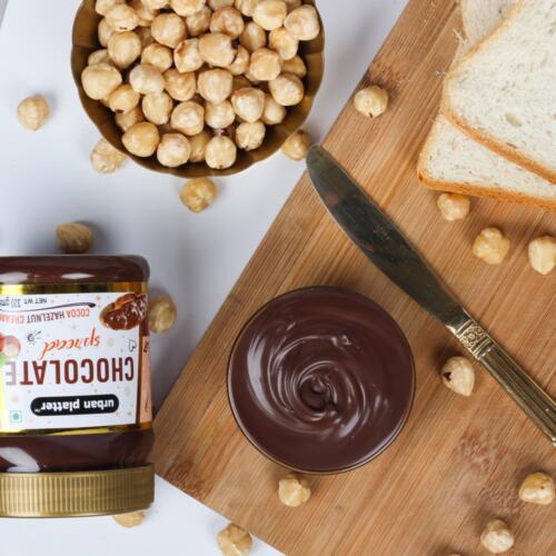 Urban Platter Chocolate Hazelnut Spread, 320g [NO Palm Oil and Trans Fat Free]