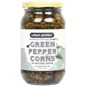 Urban Platter Green Pepper Corns in Brine, 400g (Drained weight, 150g)