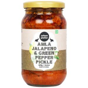 Urban Platter Amla, Jalapeno and Green Pepper Pickle, 400g