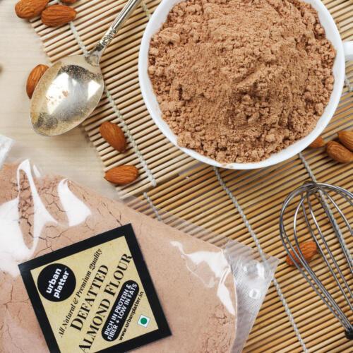 Urban Platter Defatted Almond Flour, 400g (All Natural, High-protein, High-fiber Powder)