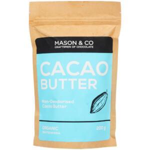 Mason & Co. Non-Deodorised Organic Cacao Butter, 200g [Organic Cacao, Gluten Free, Soy Free, Vegan]