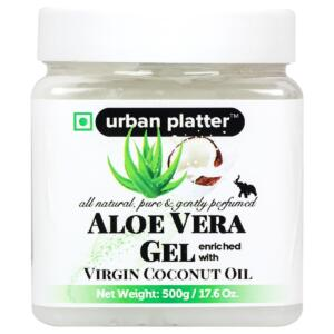 Urban Platter Aloe Vera Gel Enriched With Virgin Coconut Oil, 500g