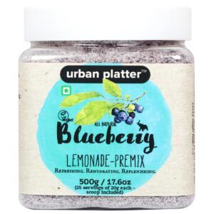 Urban Platter Blueberry Lemonade Premix, 500g [Instant, Refreshing & Rich in Antioxidants]