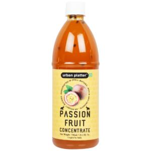 Urban Platter Passion Fruit Concentrate, 750ml [Fruity, Sweet & Sour; Rich in Antioxidants; An Immunity Booster]