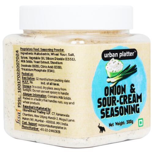Urban Platter Onion & Sour-cream Seasoning Powder, 300g (Ideal for French-fries, Pop-corn, Snacks)