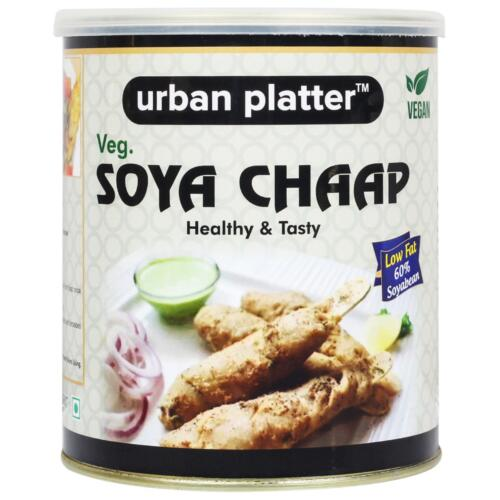 Urban Platter Soya Chaap in Brine, 800g (Vegan, Chunks on Stick, 500g Net Drained Weight)