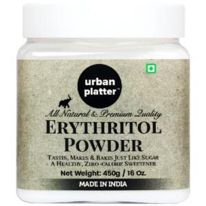 Urban Platter Pure Erythritol Powder, 450g (All Natural, Zero GI, Zero Calorie Sweetener)