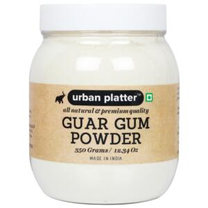 Urban Platter Guar Gum Powder Jar, 350g (All Natural, Thickening Agent, Binding Agent for Baking)